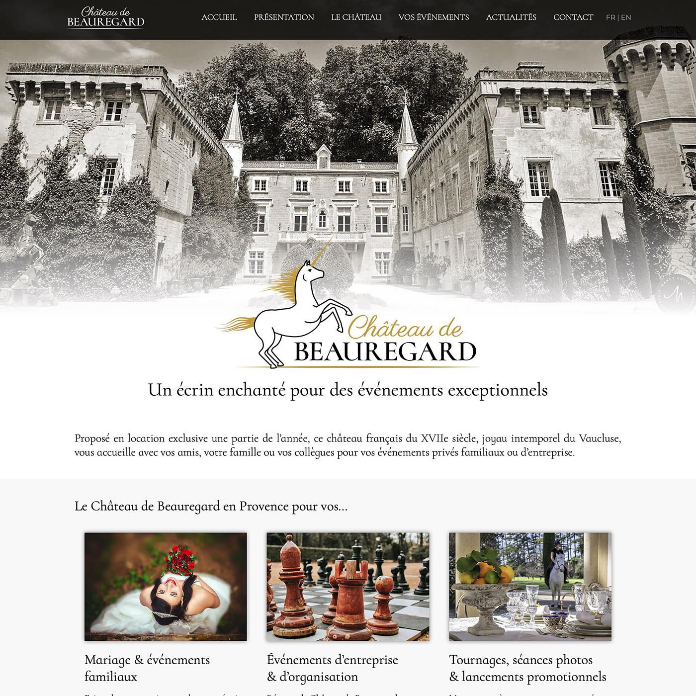 Louez le Château de Beauregard - en usage exclusif - à Jonquières en Vaucluse pour vos événements privés de famille ou d'entreprise.