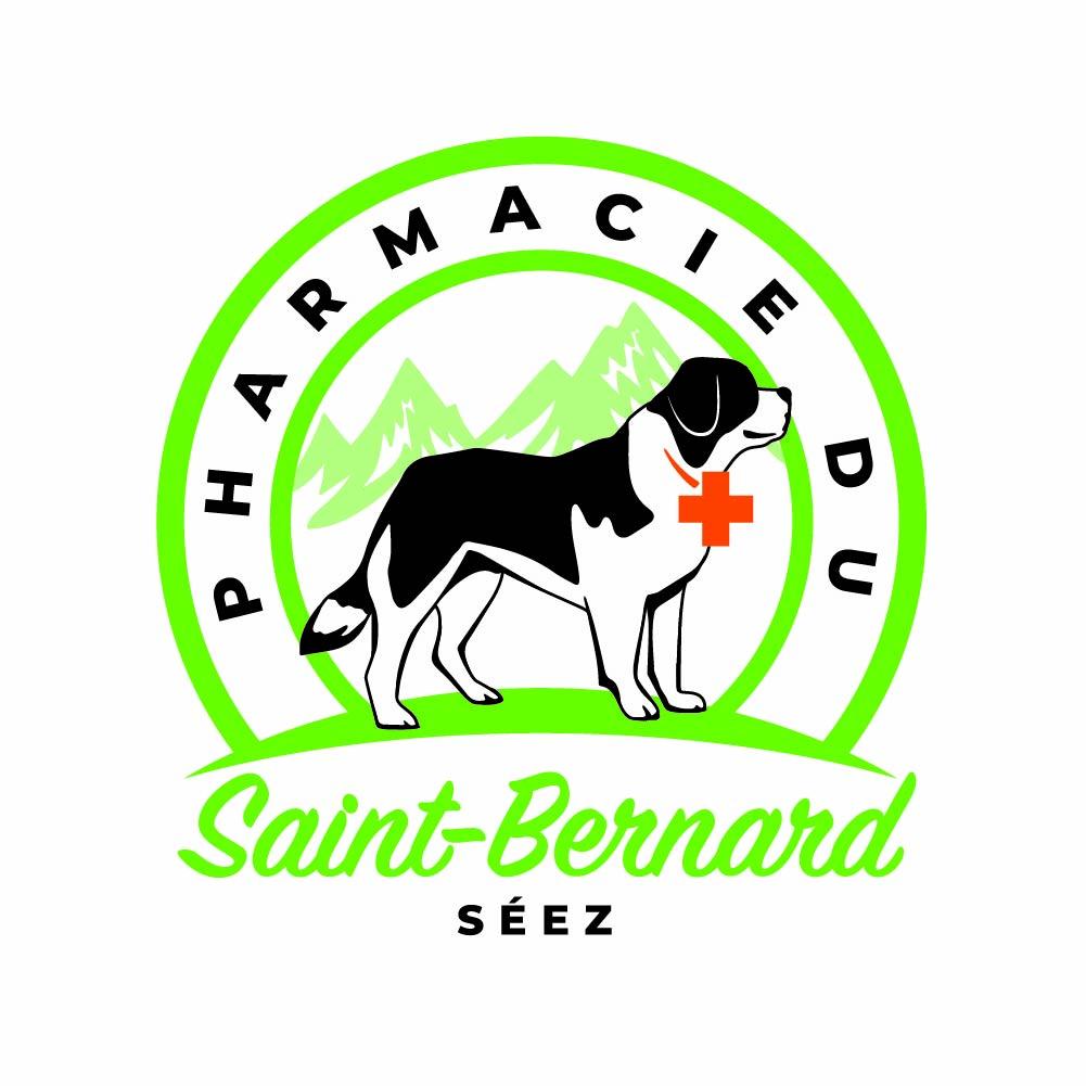 création logo, Pharmacie du Saint-Bernard, Séez